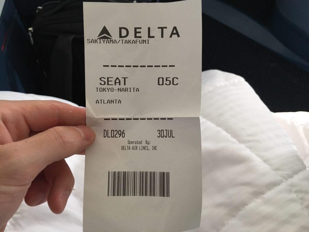デルタ・ワンのチケット